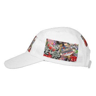 Spieler-Freude - Las Vegas-Ikonen-Hintergrund Headsweats Kappe