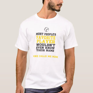 Spieler-Licht-T-Shirt Front das BB/SB der Mammas