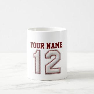 Spieler Nr. 12 - coole Baseball-Stiche Tasse