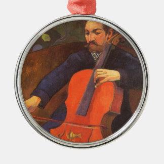 Spieler Schneklud Porträt durch Paul Gauguin Silbernes Ornament