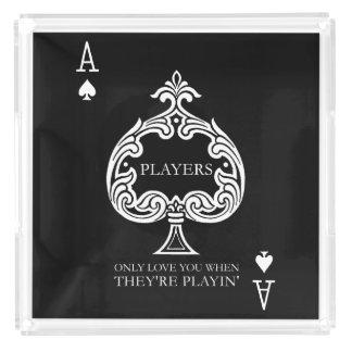 Spieler-Serviertablett Acryl Tablett