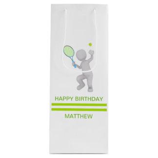 Spieler-Tennis-Schläger-Ball des Tennis-3D Geschenktüte Für Weinflaschen