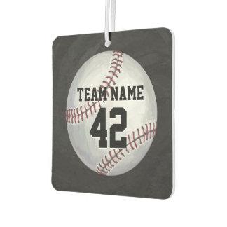 Spieler und Zahl-Baseball Autolufterfrischer