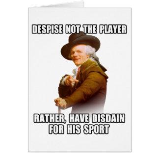 Spieler-Verachtung Josephs Ducreux Grußkarte