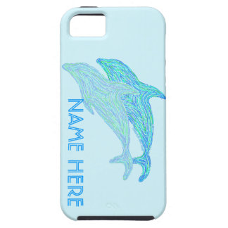 Spielerische Delphin-blaues iPhone 5 Cover