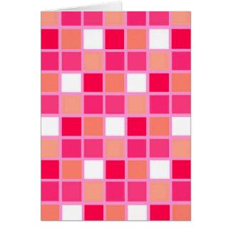 Spielerische Harlekin-Lippenstift-Farbfliesen Karte
