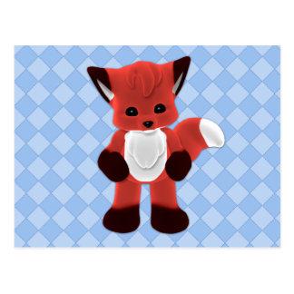 Spielerische Postkarte Fox Plushie