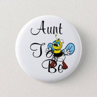 Spielerische Tante To Bee Runder Button 5,1 Cm