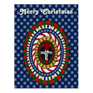 Spielerische Weihnachtspostkarte Postkarte