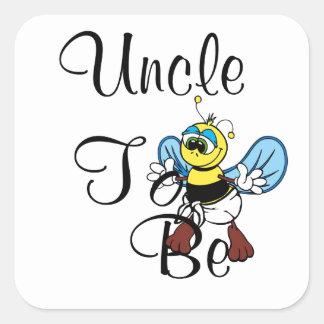 Spielerischer Onkel To Be Quadratischer Aufkleber