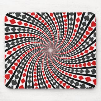 Spielkarte-Anzugs-Spirale: Kundenspezifisches Mousepad