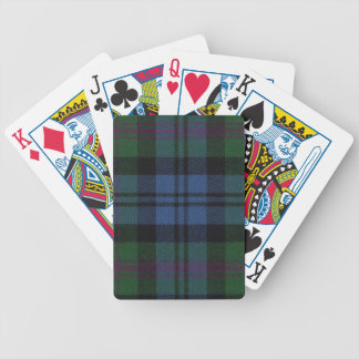 Spielkarte-Baird alter Tartan-Druck Pokerkarten