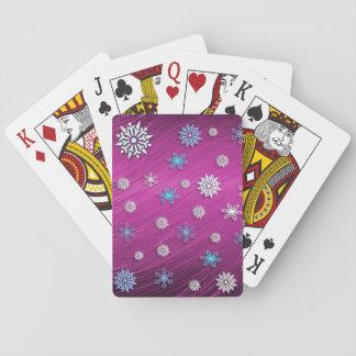 Spielkarte der Schneeflocken