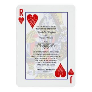 Spielkarte-Einladung König-Queen Karte