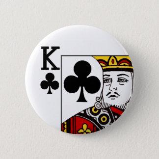Spielkarte-Knopf-Abzeichen König-Of Clubs Runder Button 5,7 Cm