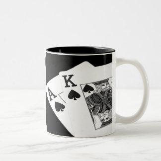 Spielkarte-Poker aller bin ich herein! Zweifarbige Tasse