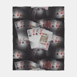 Spielkarte-Viererkabel-Könige Layered Pattern, Fleecedecke