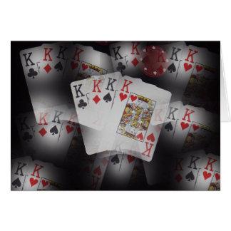 Spielkarte-Viererkabel-Könige Layered Pattern, Karte