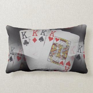 Spielkarte-Viererkabel-Könige Layered Pattern, Lendenkissen