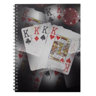 Spielkarte-Viererkabel-Könige Layered Pattern, Notizblock