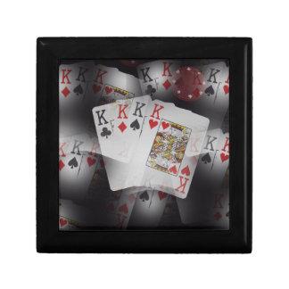 Spielkarte-Viererkabel-Könige Layered Pattern, Schmuckschachtel