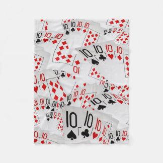Spielkarte-zehn in einem überlagerten Muster, Fleecedecke
