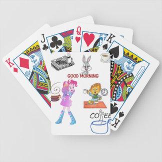 Spielkartekaffeetee-Tasse für sie Bicycle Spielkarten