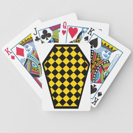 Spielkarten Damier Ebenholz-(Gold)