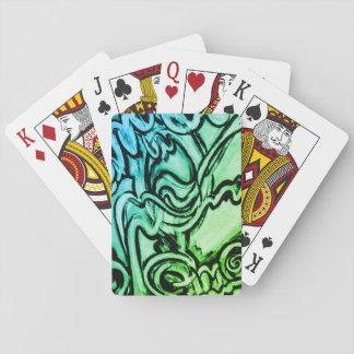 Spielkarten der abstrakten Graffiti-ähnlichen