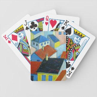 Spielkarten der Dachspitzen