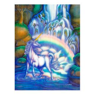 Spielkarten der Fantasie-Fälle Postkarte