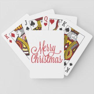 Spielkarten der frohen Weihnachten