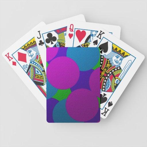 Spielkarten der hellen Kreise!