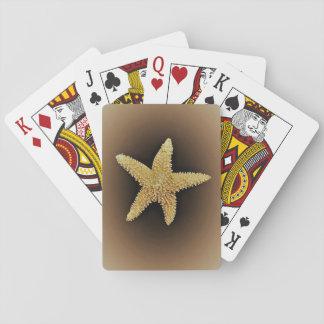 Spielkarten des braunen Hintergrundes der Starfish