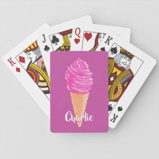 Spielkarten des Eiscreme-individuellen Namens