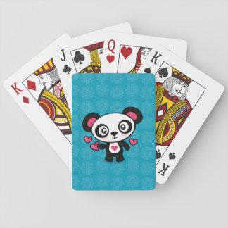 Spielkarten des niedlichen Pandas