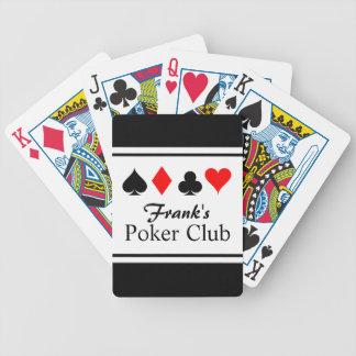 Spielkarten des personalisierten NamensPokers