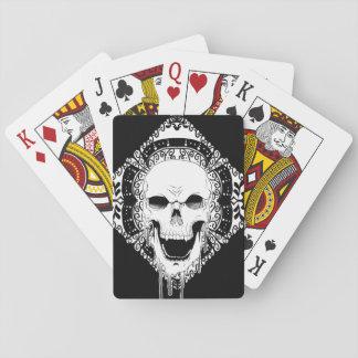 Spielkarten des Schädel-Dekors