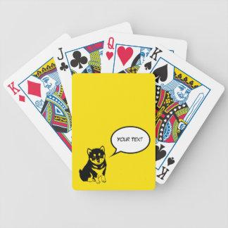 Spielkarten des Shiba Inu chinesisches
