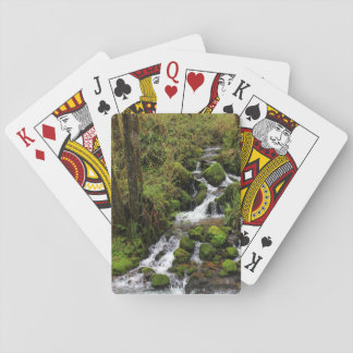 Spielkarten des Wasserfall-Fotos