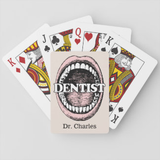 Spielkarten des Zahnarzt-individuellen Namens