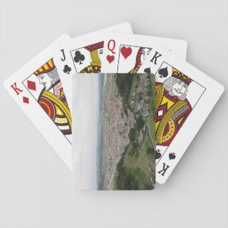 Spielkarten, die Llandudno von oben kennzeichnen Spielkarten