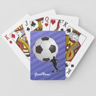 Spielkarten - Fußball, personifiziert mit Namen