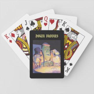 Spielkarten Halloweens: Poker-Freunde