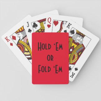 """Spielkarten - halten Sie """"EM oder falten Sie """"EM"""
