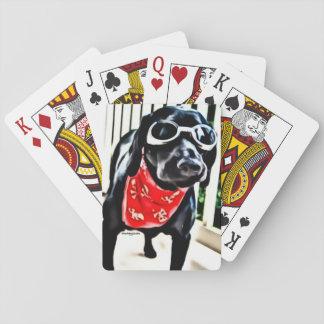 Spielkarten mit BlackDogLuke in den Schutzbrillen