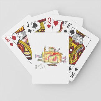 Spielkarten mit Trommel
