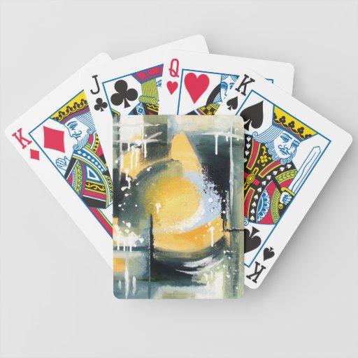 Spielkarten modernes Schwarzes und gelb