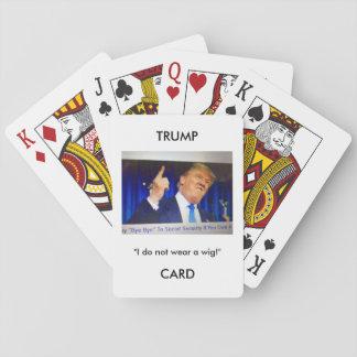 Spielkarten Trumpf-Donald Trumpbildes/-zitats