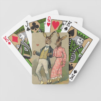 Spielkarten Vintagen Ostern-Fahrrades
